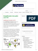 Amplificador de Audio Con 741 - Electrónica Unicrom
