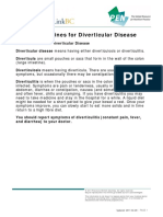 Eating Guidelines for Diverticular Disease