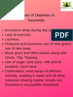 Causes of Diabetes in Ayurveda