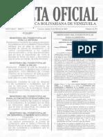 Gaceta Oficial Nro. 41.592 de fecha 22 de febrero de 2019