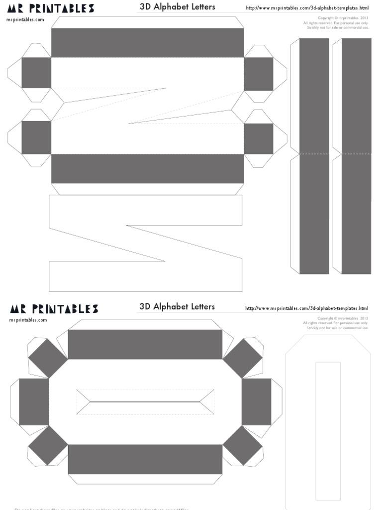 mrprintables-3d-alphabet-templates-N-to-Z.pdf   All Rights ...