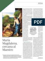 María Magdalena, cercana al Maestro