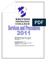 Services and Procedures 2011