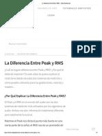La Diferencia Entre Peak y RMS - Audio Producción