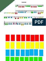 partitura adaptada com cores