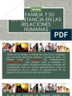 La Familia y Su Importancia en Las Relaciones