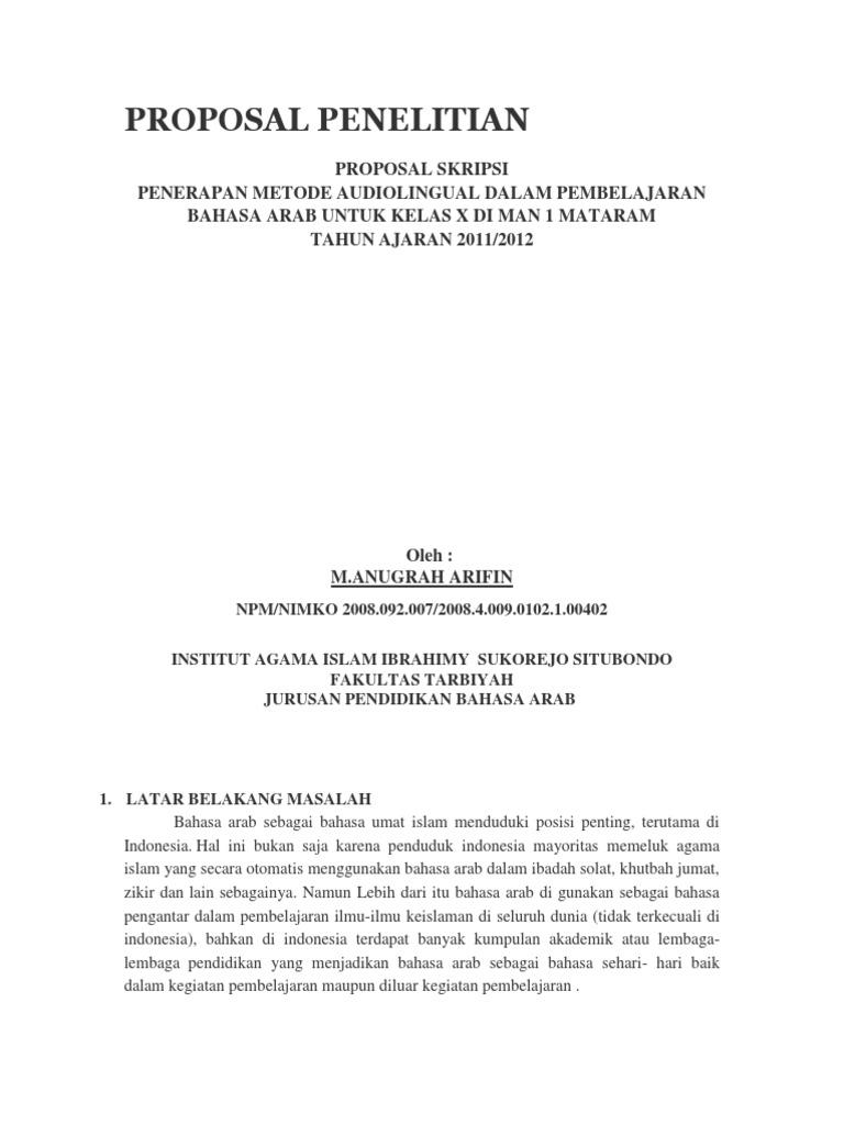 Proposal Penelitian Studi Kasus