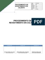 Cal-pr-02 Revestimiento en Caliente
