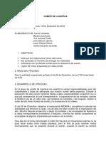 Comité de Logistica Informe