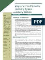 Madagascar Food Security Monitoring System Quarterly Bulletin (2nd Quarter 2010, May 2010)