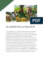 El Orden de La Creacion