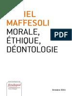 68178128 Morale Ethique Deontologie Michel Maffesoli
