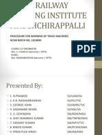 Zonal Railway Training Institute Tiruchchirappalli