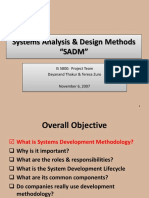 System Analysis and Design Methologies