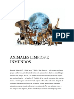 Animales Limpios e Inmundos