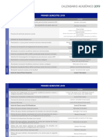 Calendario Academico 2019 PDF