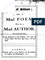 Tom of Bedlam, A Mad Poem by a Mad Author (1701)