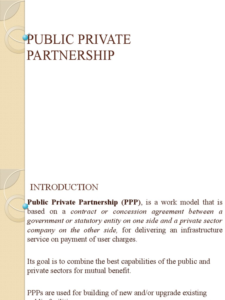 Types Of Ppp Models Publicprivate Partnership Infrastructure