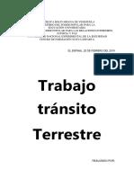 Trabajo de Transito Reglamento Unes