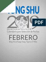 01 Mes Febrero 2019 Tong Shu