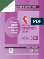 Anais XIII Congresso Iniciação Científica UNIRP 2016