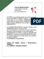 LIPOMA SUBGALEAL EN REGIÓN FRONTAL