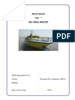 Pilot Boat PO- Sea Trial Report