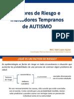 Factores de Riesgo e Indicadores Tempranos de Autismo (Mayo 2015)