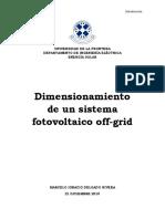 Dimensionamiento Off-grid SIN ANEXOS