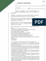 Construction Contractor Registry Ordinance