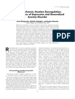 Adult Attachment, Emotion Dysregulation and Symptoms of Deprression and Generalized Anxiety Disorder