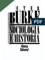 Sociología e historia. Peter Burke