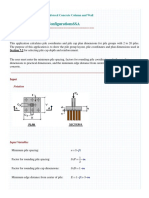 Pile Cap Configurations