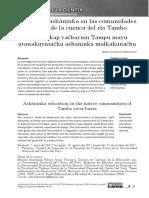 Educación Asháninka en Las Comunidades (por Beatriz Anastacia Fabián Arias)