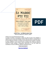 Louis Cros - Le Maroc Pour Tous