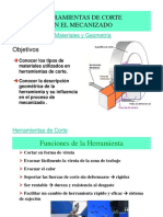 Unidad II. HERRAMIENTAS DE CORTE. 2.0 Htas_corte_-_Materiales_y_Geometria