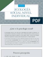 Psicología Social Nivel Individual 2