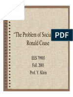 Slides about COASE. The Problem of Social Cost