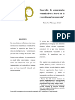 Desarrollo Competencias Comunicativas a Través Del Lenguaje Oral