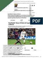 Real Madrid - Barcelona_ El Clásico de Copa Del Rey de Fútbol, Hoy en Directo