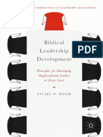 (Christian Faith Perspectives in Leadership and Business) Stuart W. Boyer - Biblical Leadership Development-Springer International Publishing,Palgrave Macmillan (2019)