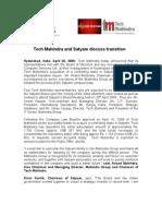 Tech Mahindra and Satyam Discuss Transition