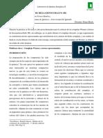Practica No. 4 - Síntesis de Cloruro de Hexaaminocobalto III