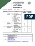 Dosificacion Anual Hist 2018-2019