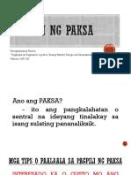 Pagpili Ng Paksa...From Pluma
