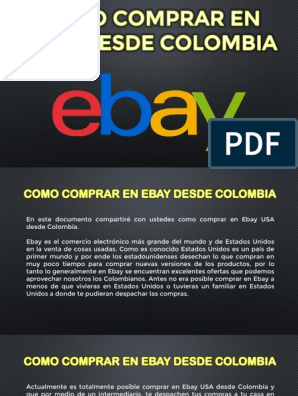 Como Comprar En Ebay Desde Colombia Tips Para Comprar En Usa Bahia E Colombia