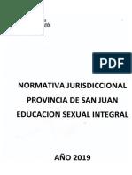 NORMATIVA JURISDICCIONAL PROVINCIA DE SAN JUAN EDUCACION SEXUAL INTEGRAL
