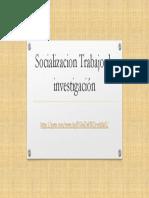 Socializacion Trabajo de Investigación