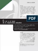 EL SER Y EL HACER DE LA ORGANIZACIÓN EDUCATIVA.pdf