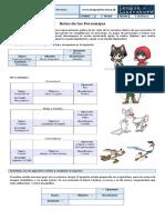 1M 102 Roles de Los Personajes y Esquema Actancial